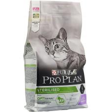 Корм Pro Plan Sterilised для кастрированных кошек, индейка, 10 кг