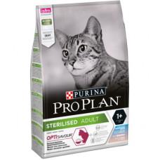 Корм Pro Plan Sterilised для кастрированных кошек, треска/форель, 1.5 кг