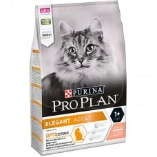 Корм Pro Plan Elegant для взрослых кошек, красивая шерсть и здоровая кожа, лосось, 10 кг