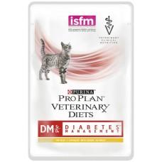 Корм ProPlan Veterinary Diets Feline DM для кошек при сахарном диабете, курица, соус, пауч, 85 г