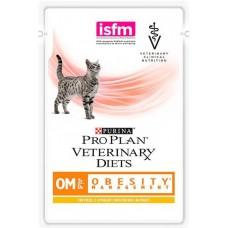 Корм ProPlan Veterinary Diets OM для кошек лечение ожирения, пауч, соус, 85 г