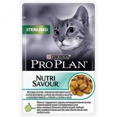 Purina Pro Plan кусочки в желе для кастрированных кошек с океанической рыбой, Sterilised, 85 гр