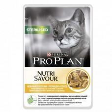 Корм ProPlan Sterilised для кастрированных кошек, курица, соус, пауч, 85 г