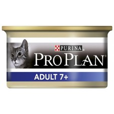 Корм ProPlan Senior для пожилых кошек, тунец, банка, 85 г