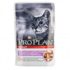 Корм Pro Plan Adult для взрослых кошек, индейка, желе, пауч, 85 г