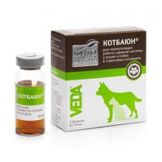 Веда Фитодиета Котбаюн для коррекции поведения собак и кошек, настой, 3 флакона по 10 мл