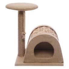 "Домик-когтеточка Yami-Yami ""Шалаш"", угловой, из лозы, 43x54.5x50 см"