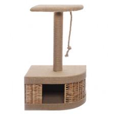 "Домик-когтеточка Yami-Yami ""Плетёнка"", угловой, из лозы, 45.5x35.5x72.5 см"