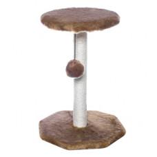 """Когтеточка Yami-Yami """"Зонтик"""" с помпоном, сизаль, коричневый, 36x34x49 см"""