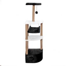 """Домик-когтеточка Yami-Yami """"Небоскреб"""" угловой с гамаком и помпоном, джут, 36x49x1.7 м"""