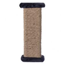 Когтеточка Yami-Yami, настенная, джут, темно-серая, 16.5х8.5х44 см