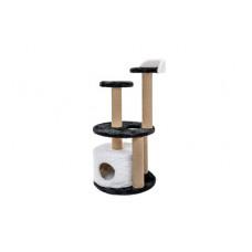Домик-когтеточка Yami-Yami Метро New, джут, черно-белый, 125x56x56 см