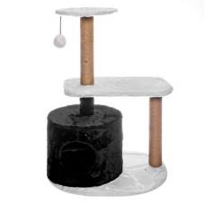 Домик-когтеточка Yami-Yami Бразилия, джут, черно-белый, 37x55x97 см