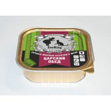 Корм ZooRing для кошек, царский обед, кусочки в желе, ламистер, 100 г