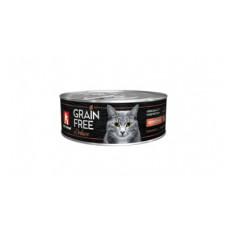 """Корм Зоогурман """"Grain Free"""" для кошек, перепёлка, банка, 100 г"""