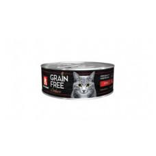 """Корм Зоогурман """"Grain Free"""" для кошек, утка, банка, 100 г"""
