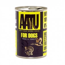 AATU консервы для взрослых собак с уткой и индейкой, AATU DUCK & TURKEY, 400 гр