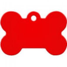 """Адресник Адресник """"Косточка"""", алюминий, большая, красная, 38х26 мм"""