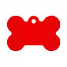 """Адресник Адресник """"Косточка"""", алюминий, малая, красная, 30х12 мм"""