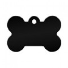 """Адресник Адресник """"Косточка"""", алюминий, малая, черная, 30х12 мм"""