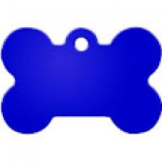 """Адресник Адресник """"Косточка"""", алюминий, большая, синяя, 38х26 мм"""