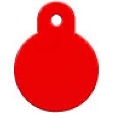 """Адресник Адресник """"Круг"""", алюминий, малый, красный, 21х28 мм"""