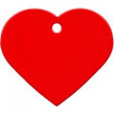 """Адресник Адресник """"Сердце"""", алюминий, большое, красное, 37х35 мм"""