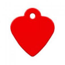 "Адресник Адресник ""Сердце"", алюминий, малое, красное, 26х29 мм"