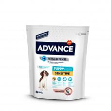 Корм Advance Puppy Sensitive для щенков с чувствительным пищеварением, лосось/рис