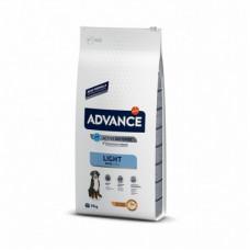 Корм Advance Maxi Light для взрослых собак крупных пород, контроль веса, курица/рис, 14 кг