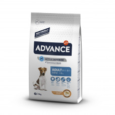 Корм Advance Mini Adult для взрослых собак малых пород, курица/рис, 7.5 кг