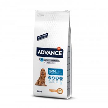 Корм Advance Medium Adult для собак, курица/рис, 18 кг