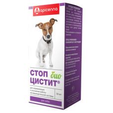 """Суспензия Apicenna """"Стоп-Цистит Био"""" для собак, лечение и профилактика МКБ, 50 мл"""
