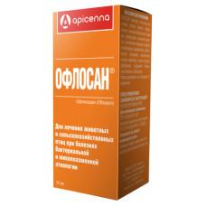 "Антибиотик Apicenna ""Офлосан"", раствор оральный (10% офлоксацин), 10 мл"