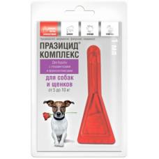 """Apicenna """"Празицид-Комплекс 3 в 1"""" для собак 5-10 кг, от глистов, клещей, вшей. 1 пипетка, 1 мл"""