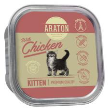 Корм Araton для котят, безглютеновый, курица, ламистер, 85 г