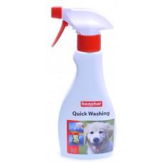 """Шампунь """"Без мыла и воды"""" для собак и кошек, Quick Washing, 250 гр"""
