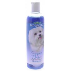 Шампунь Biogroom Супер Белый, концентрация 1:8, 3.2 литра готового шампуня, Super White Shampoo, 355 мл
