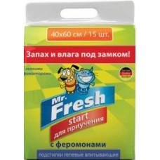 Пеленки Mr.Fresh Start гелевые д/жив 40*60 см 15 шт
