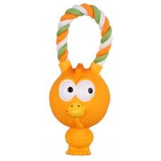 """Игрушка для собак на верёвке """"Птенец"""" 17 см, латекс"""