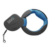 Рулетка-ремень Divo с автоматической системой торможения и эргономичной расстегивающейся ручкой, синяя
