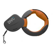 Рулетка-ремень Divo с автоматической системой торможения и эргономичной расстегивающейся ручкой, оранжевая