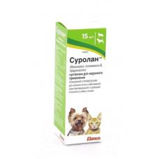 Ушные капли Elanco Суролан для лечения отита собак и кошек, 15 мл