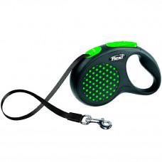 Flexi Design рулетка S, ремень, 5 м, до 15 кг, зеленый