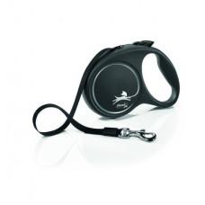 Рулетка Flexi Black Design, ремень, чёрная