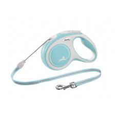 Рулетка Flexi New Comfort, трос, голубая