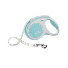 Рулетка Flexi New Comfort, ремень, голубая