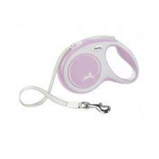 Рулетка Flexi New Comfort, ремень, розовая