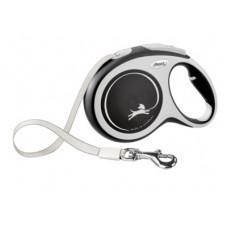 Рулетка Flexi New Comfort, ремень, черная