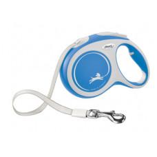 Рулетка Flexi New Comfort, ремень, синяя